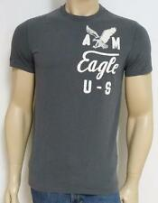 American Eagle Outfitters U-S Applique Mens Dark Gray T-Shirt AEO New NWT