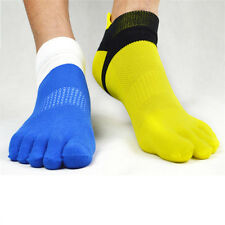 1 Pairs Breathable Men's Cotton Toe Socks Pure Sports Five Finger Socks 5 Colors