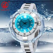 OHSEN LED Light Waterproof Stainless Steel Band Mens Sports Quartz Watch 7 Color