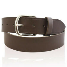 "MENS REAL LEATHER BELTS MADE IN ENGLAND BLACK BROWN BELT 3 WIDTHS SIZES 26""-55"""