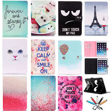 Cute Cartoon Wallet Smart Leather Case Stand Cover For Apple iPad Air 2 / Mini 4