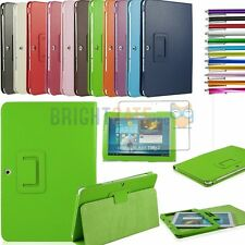 Slim Fold Leather Smart Case Cover For Samsung Galaxy Tab 2 10.1 P5100 +Film+Pen
