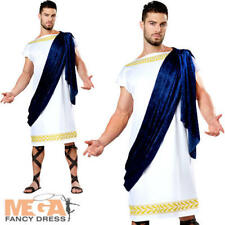 Grecian Toga Mens Fancy Dress Ancient Greece Roman History Adults Costume Outfit