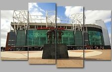Old Trafford Manchester United Football Stadium Split Canvas Picture Wall Art