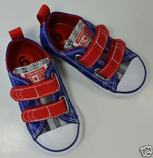 Converse All Star Blue / Red Velcro Shoes. Toddler Size(6, 10)