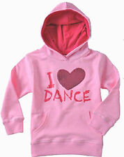 Girls Funky Babe Pink Long Sleeved Hooded IDance Sequinn Heart Windcheater Top