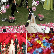 144PCS Silk Artificial Rose Flower Petal Wedding Party Table Confetti Decoration