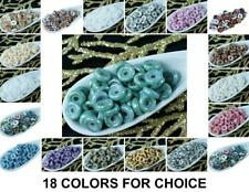 10g Chalk Wheel Matubo Czech Glass Flat Round Beads 6mm Approximately 85pcs