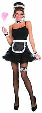 French Maid Costume Kit Headband Choker Apron Cuffs Black White Womens Adult NEW
