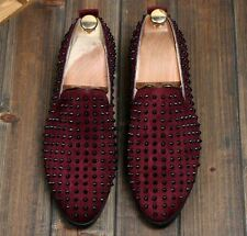 Fashion Mens Spike suede pointy Punk Studded rivet Loafer casual dress shoes new
