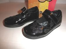 NIB Rachel Shoes Kendall  Toddler Girls  Black Patent Mary Jane Shoes velcro