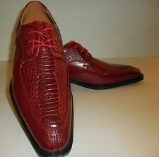 Mens Elegant Modern Toe Dress Oxfords Shoes Antonio Cerrelli 6536 Sangria Red