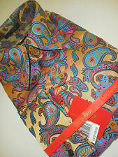 Mens Leonardi Shirt Edition 335 French Cuff Version Multi-Color Paisley Motif