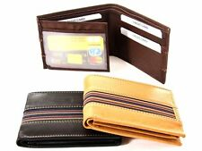 Bifold 6 Credit Card 2 Id Window Leather Men's Wallet