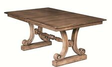 Amish Peyton Rectangle Trestle Dining Table Solid Wood Traditional Furniture