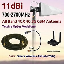 11dBi 4G 3G All Band Antenna for Telstra Sierra Wireless Airhub 760 Coax FME SMA