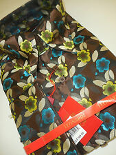 Mens Leonardi French Cuff High Collar Shirt Edition 344 Brown Lime Teal Botanic
