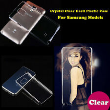 NEW Clear Crystal Glossy Transparent Hard Plastic Case Cover For Samsung Models