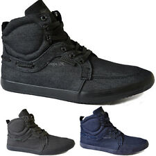 MENS HI TOP TRAINERS BOYS TWISTED FAITH ANKLE HIGH FASHION BOOT PUMPS SIZE