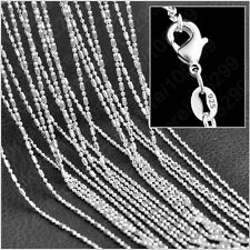 Wholesale lots 15Pcs Silver Plated Bamboo Necklace Chain 16-30 inches Hot