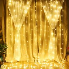 3M*3M/6M*3M LED Fairy Curtain Lights Wedding Christmas Garden Party Waterproof
