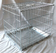 Medium 30 Inch Zinc Dog / Puppy / Pet Cage / Crate / Carrier / Camping / Car