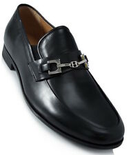Authentic Bally 'HAKUS' Loafers Mens LEATHER Casual Shoes in Black