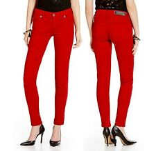NEW MISS ME WOMEN'S VAMPIRE RUBY RED STRETCHY  SKINNY JEANS PANTS