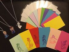 COOL CARDZ REFILL PACK With Frozen Printed Inserts AND FREE S/PLATED NECKLACE