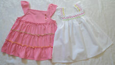 Gymboree PRETTY LADY Tank Top NWT Smocked White orTiered Knit Pink Choice  7 8 9