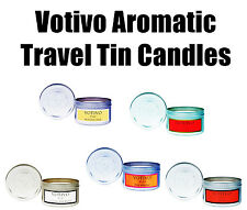 Votivo Multi-Scent Aromatic Travel Tin Candles Red Current Teak Honeysuckle