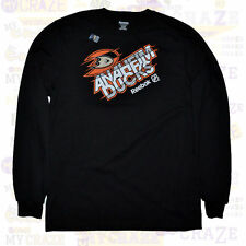 ANAHEIM DUCKS REEBOK Mens NHL Black Long Sleeves T-Shirt