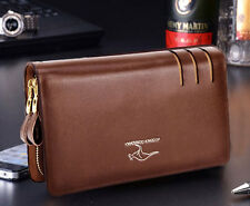 Men Genuine Leather Business Clutch Bag Handbag Wallet Briefcase Card Organizer