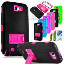 Hybrid Shockproof Protective Hard case Cover Kickstand For Samsung Galaxy Note 2