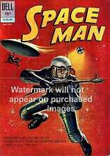 Space Man Comic: Vintage magazine cover advertising poster, Wall art.