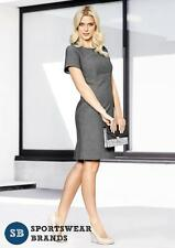 Rococo Ladies Short Sleeve Shift Dress Grey Corporate Office Size 4-22 New 30312