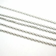 Sterling Silver Chain Rhodium Plated- Tiny Rolo Chain 1mm Unfinished Bulk Chain