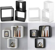 3pcs Floating Wall Mount Cube Shelf Book Case Storage Shop Window Display Stand