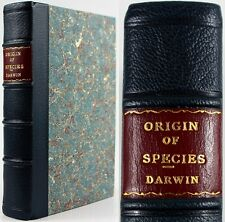 CHARLES DARWIN*THE ORIGIN OF SPECIES*6th*1899*LEATHER*GIFT COPY*ALL EDGES GILT*