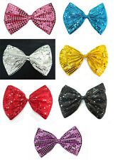 Sparkly Sequin Glitter Jumbo Big Large Clown Joker Bow Ties Costumes Fancy Dress