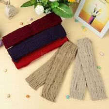 Women Men Arm Long Fingerless Warmer Knit Mitten Winter Comfortable Gloves 9E0P