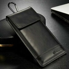 Universal Genuine Leather Wallet Carry Pouch Sleeve Card Case Belt Clip Holster