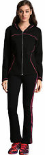 Womens 2Piece Sport Suit Sweatshirt Long Pants Set zipper Sport Tracksuit New
