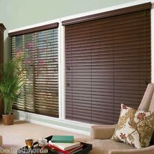 NEW Mahogany Brown Faux Wood Blinds - 2in Wide Slats