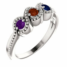 Mother's Day Ring Jewelry Sterling SILVER Birthstone Ring 1-5 Stones, Moms ring