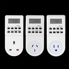 7 Day Digital Electronic LCD Plug-in 12/24 Hour Timer Switch Plug Socket #Z