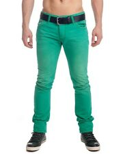 8675 Redbridge by Shelly & Baxx Men Skinny Jeans Trousers green R-191 New
