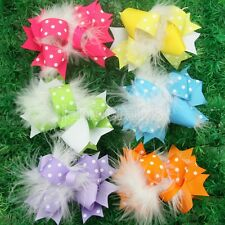"12pc Wholesale Halloween Baby Girls 4"" Hair Bows Clips Boutique Grosgrain Ribbon"