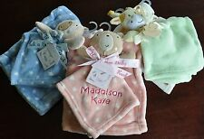 Personalised Comforter with matching Baby Blanket - Blue/Pink/Green - Fab Gift