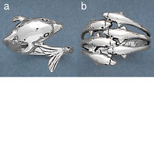 Sterling Silver DOLPHIN Ring-High Polish-Dolphin Silver Ring